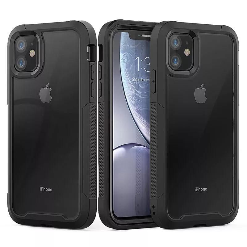 For iPhone 12 11 XR XS Max 8 7 Plus Shockproof Hybrid Armor Phone Case For iPhone 11Pro Max 6S Plus Hard PC TPU 2 in1 Full Cover