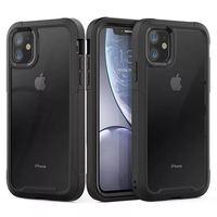 Für iPhone 12 11 XR XS Max 8 7 Plus Stoßfest Hybrid Rüstung Telefon Fall Für iPhone 11Pro Max 6S Plus Harte PC TPU 2 in1 Volle Abdeckung