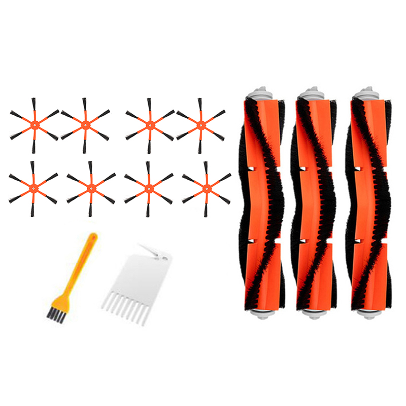 Top Sale 3 Main Brush + 8 Side Brush Filter Suitable for Xiaomi Vacuum 2 Roborock S50 for Xiaomi Roborock Mi Robot Parts Filters