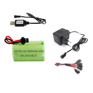 4.8v 3000mAh NiMH Battery 4.8v Rechargeable Battery Ni-MH AA Battery Pack +4.8v Charger For Rc toys Cars Boats Tanks Robots part(China)