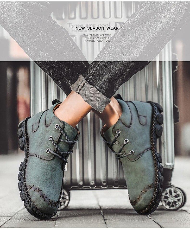 couro marca botas de motocicleta masculinas confortáveis