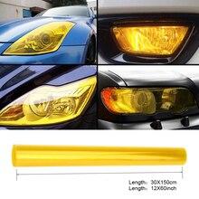"""30cm x 1m 12 """"x 40"""" רכב אוטומטי אור פנס טאיליט גוון ויניל סרט מדבקת קל מקל אופנוע כל רכב קישוט 12 צבעים"""