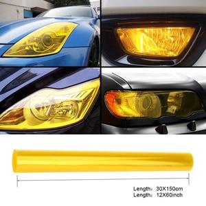 "Image 1 - 30cmx1m 12""x40"" Auto Car Light Headlight Taillight Tint Vinyl Film Sticker Easy Stick Motorcycle Whole Car Decoration 12 Colors"