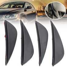 4Pcs High Quality ABS Black Car Front Bumper Fins Lip Auto Bumper Canards Splitter Sticker Trim Set For Audi For BMW For Nissan цена