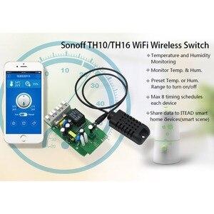 Image 5 - Sonoff TH10/15A Smart Wifi Schalter Überwachung Drahtlose Sonde Temperatur Feuchtigkeit Sensor Schalter Wifi Smart Home Remote Controller