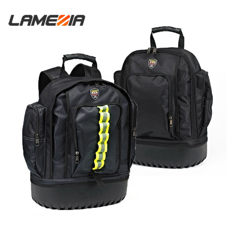 LAMEZIA High Quality Grade Oxford Cloth Canvas Shoulder Tool Bag Storage Organizer Hardware Kit Toolkit