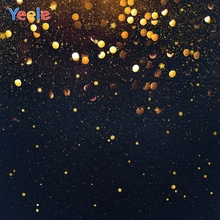 Golden Dots Black Sky Star Night Backdrop Newborn Baby Birthday Party Custom Photography Background For Photo Studio Photocall star night sky space galaxy themed star wars photo studio background vinyl cloth high quality computer printed wall backdrop