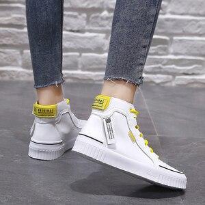 Image 5 - 2019 moda tênis para mulher respirável plataforma tênis feminino sapatos de luxo designers femininos vulcanize martin botas