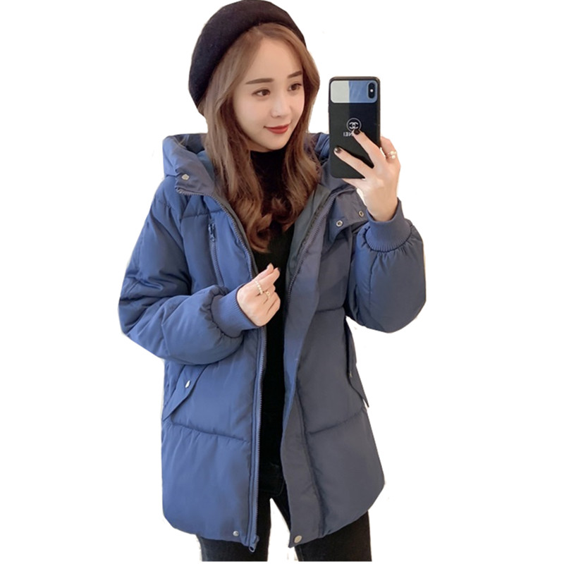 New Winter Jacket For Women Korean Style Hooded Coat Fashion Female Down Jackets Women   Parkas   Casual Jackets Windproof Rainproof