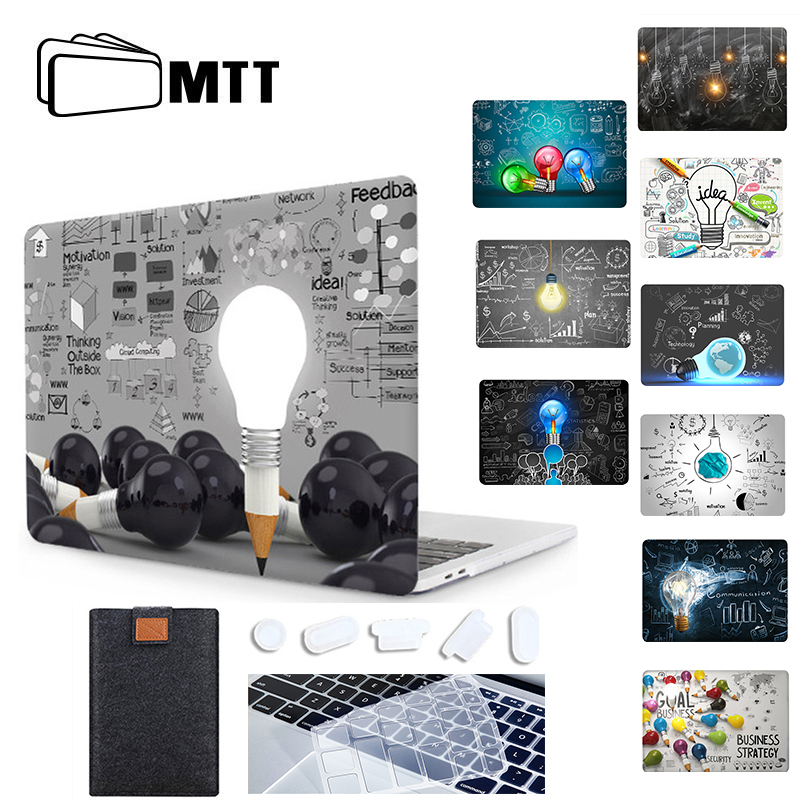 MTT Laptop Sleeve For Macbook Air Pro 11 12 13 15 16 Retina With Touch Bar Light Bulb Design Case For Mac Book 13.3 Inch Cover