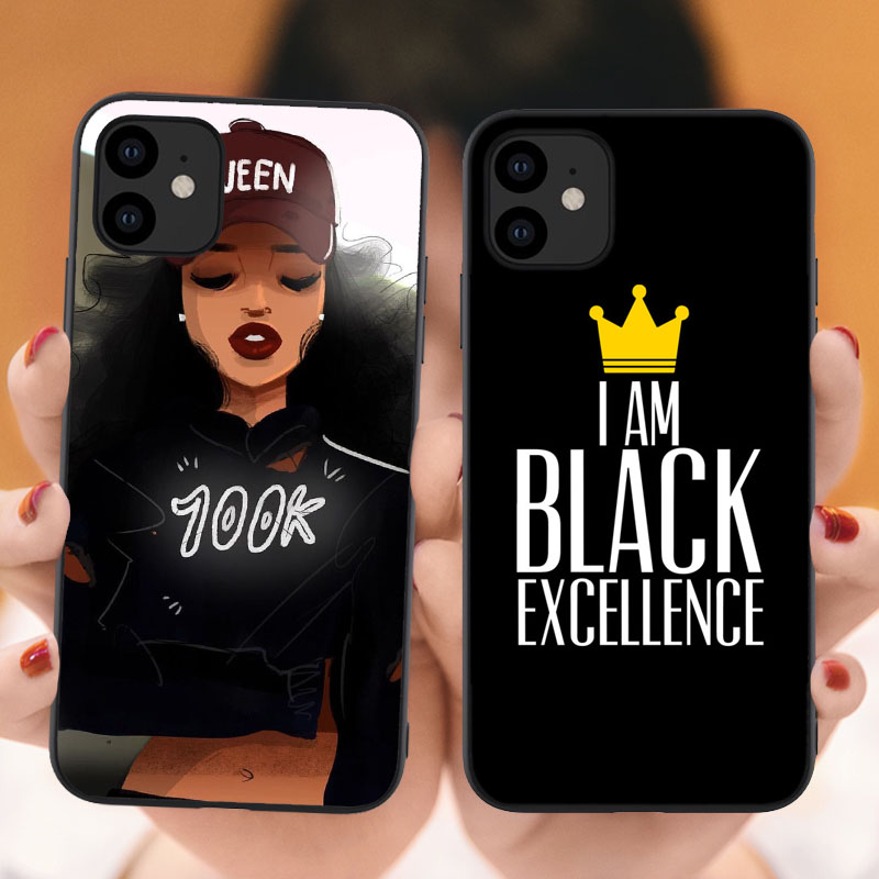 Queen Black Girl Quotes Luxury I Am Black Excellence Soft Back