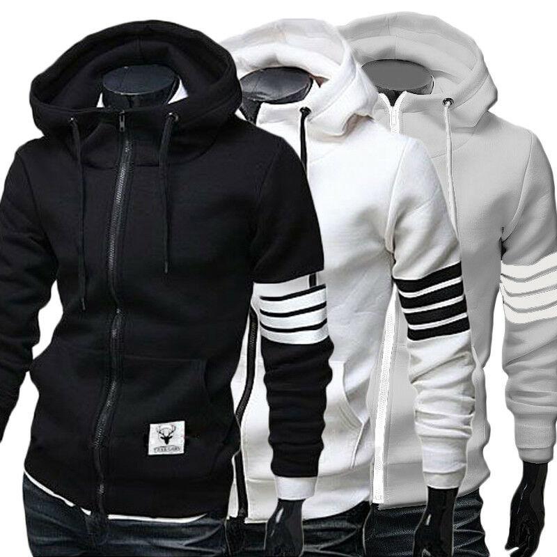 Men/'s Winter Slim Hoodie Warm Deer Hooded Sweatshirt Coat Jacket Outwear Sweater