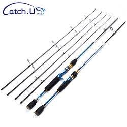 Catch.U 1.8m Spinning wędka 2 sekcja przynęty wędki Spinning wędka węglowa twarda wędka do łowienia na morzu odlewania niebieska linia WT.8-16lb
