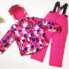 Зимний детский лыжный костюм для девочек; куртка для сноуборда; Водонепроницаемая зимняя одежда для мальчиков; теплый и ветрозащитный спортивный детский лыжный комплект