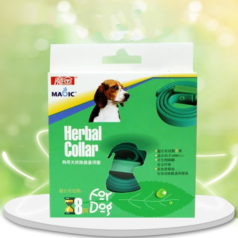 Dog Neck Ring Magic Anti-flea Circle Pet Dog Insecticide Collar Essential Oil Repellent Pet Collar Adjustable Size