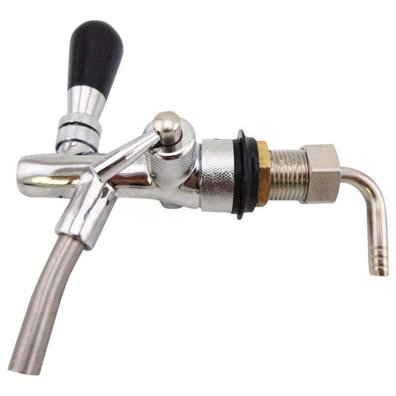 Adjustable Draft Beer Faucet With Flow Controller For Keg Tap Homebrew Dispenser