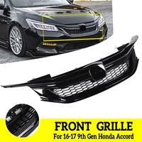 Car Front Grill Hood Mesh Bumper Racing Grills Sport Style Auto Front Grille For Honda Accord 2016 2017 2018 2019 9th Generation