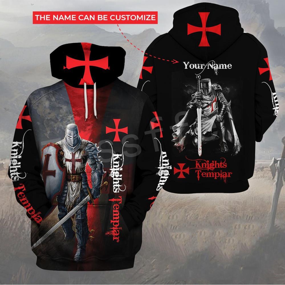Tessffel Knights Templar Jesus Guard God Armor Pullover Streetwear NewFashion 3DPrint Men/Women Casual Funny Harajuku Hoodies A3