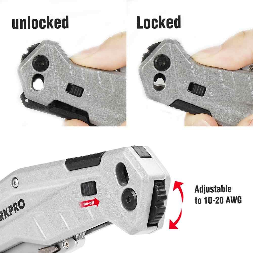 WORKPRO 2 шт. складной универсальный набор ножей для зачистки проводов встроенный карманный нож с ручкой быстрая замена с мини складной резцом коробки