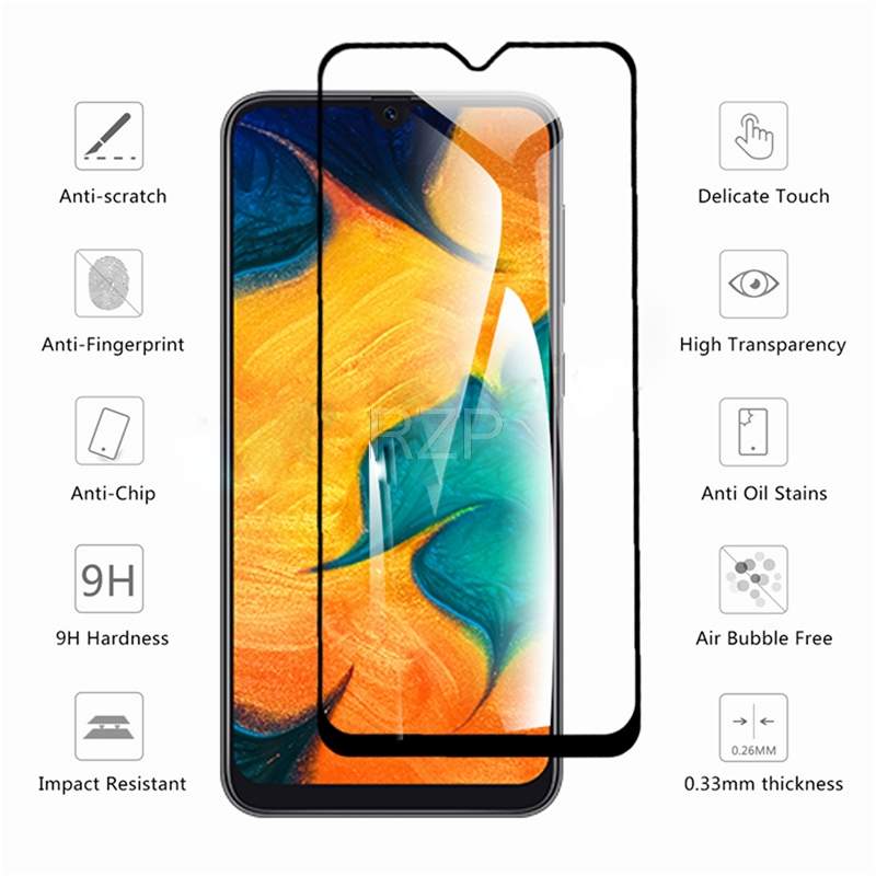 RZP Tempered <font><b>Glass</b></font> For <font><b>Samsung</b></font> <font><b>Galaxy</b></font> A30 A40S A50 <font><b>A60</b></font> A80 A90 Screen Protector On The For <font><b>Galaxy</b></font> A10E A20 A70S Protective <font><b>Glass</b></font> image
