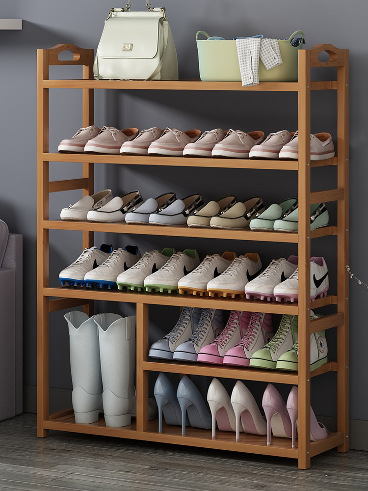 Economic Type Shoe Rack Household Multi-layer Simple Storage Shoebox Dust-proof Student Residence Solid Wood Simple And Modern