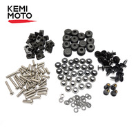 KEMIMOTO For Yamaha YZF R6 R6S Motorcycle Fairing Bolt Screw Fastener Nut Washer YZF R6 2003 2004 2005 2006 2007 2008 2009