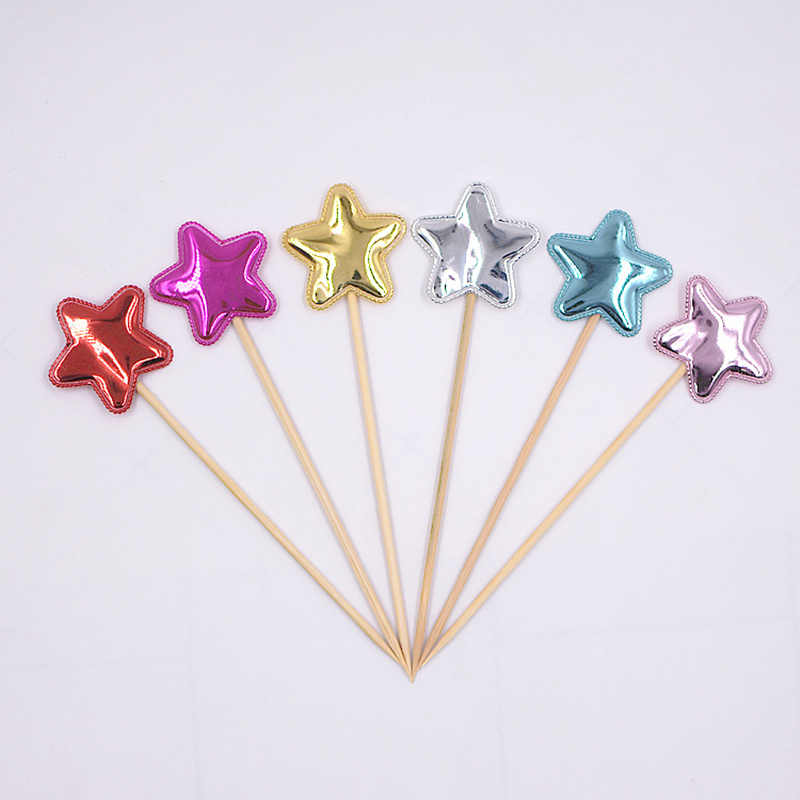 Mouse Heart Minnie Mickey Boy Shower Star Cupcake Topper Favors DIY Lovely Cake Wedding Cute Flag Head Accessories Decorations