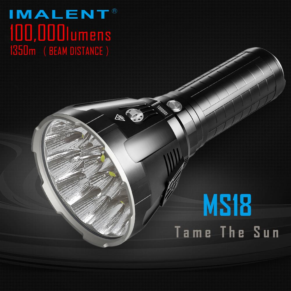 Brightest Flashlight Outdoor-Torch 100000 Lumens Rechargeable Imalent Ms18 Cree Xhp70.2