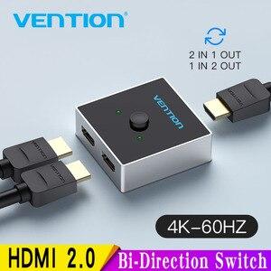 Image 1 - HDMI переключатель Vention, двунаправленный, 2,0 дюйма, 1x2/2x1, для ТВ приставки PS4 Pro/4/3