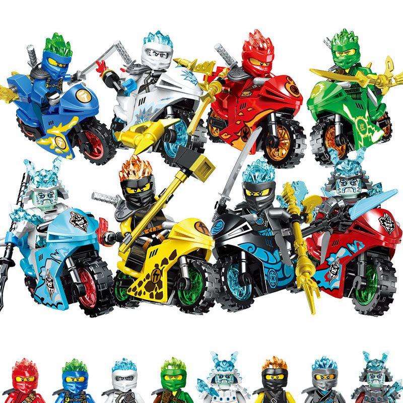 NINJA moto héros Kai Jay Cole Zane Lloyd mini jouets d'action legoinglys ninjagoed figurines Marvel Avengers Batman Hulk blocs