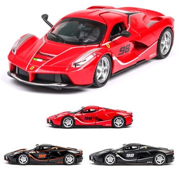 1:32 ferrari-laferrari Car Model Alloy Car Die Cast Toy Car Model Pull Back Children's Toy Collectibles Free Shipping 1set j261 stainless steel sheet model car with 4 n20 gear motor diy model car chassis frame free shipping russia australia