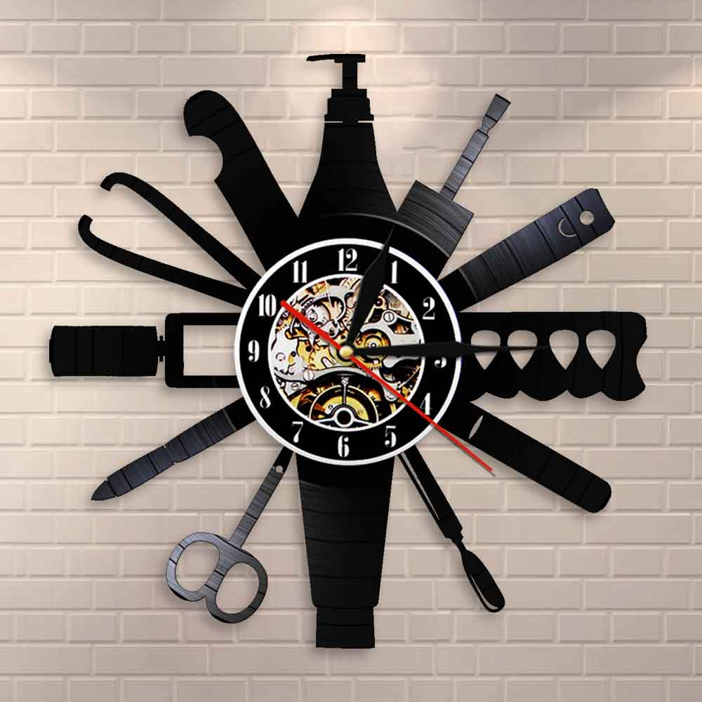 Nail Room Sign Wall Clock Nail Salon Tools Manicure Vintage Vinyl Record Wall Clock Beauty Salon Decoration Nail Technician Gift Buy At The Price Of 16 15 In Aliexpress Com Imall Com