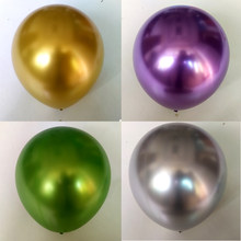 5-12 polegada pequeno metal cromo látex balões vermelho verde azul ouro prata metal ballon festa de aniversário casamento decoração do ano novo