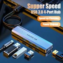 SAMZHE ultra-ince 5-port USB 3.0 HUB yüksek hızlı USB Hub için çoklu cihaz bilgisayar dizüstü masaüstü bilgisayar adaptörü