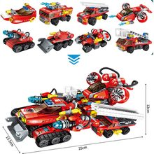 NEW Enlighten Building Block Fire Rescue 8 in 1 the Chariot Savior FV Transform legoinglys Educational Bricks Toy Boy(China)