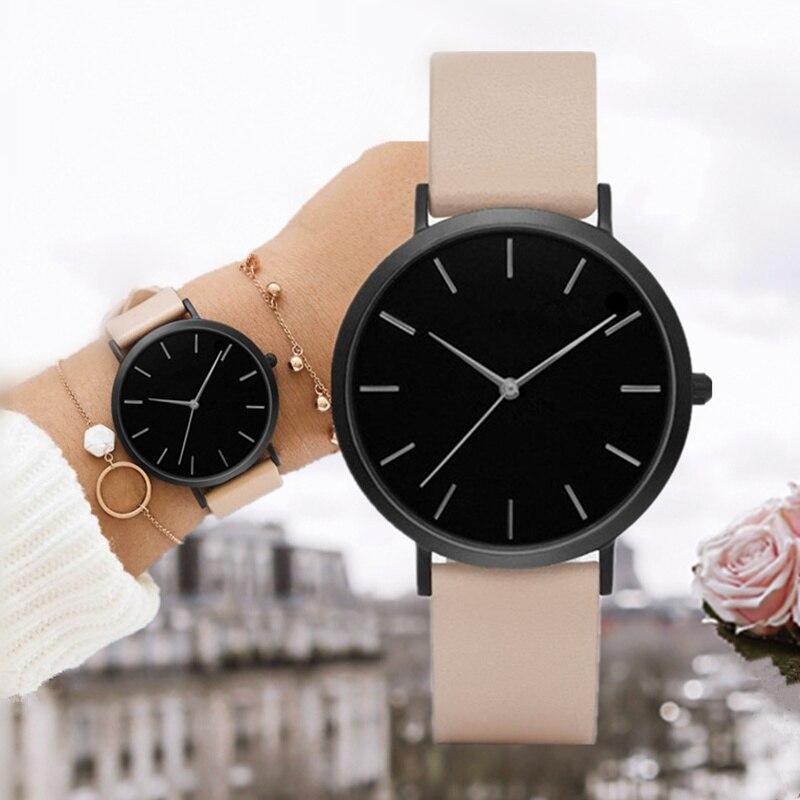 2019 Women's Watches Ultra-thin Ladies Watch Leather Women Fashion Wrist Watches Clock Women Gift Relogio Feminino Saat