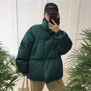 Image 3 - Зимние Модные женские парки, пуховики с хлопковой подкладкой, теплые, толстые, свободные, большие, однотонные, ватные куртки, женские повседневные куртки
