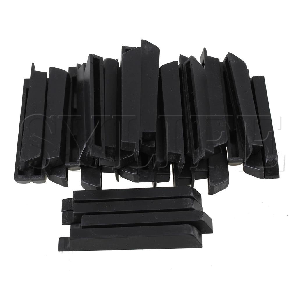 36 X Black PVC Piano Keyboard Key Top Sharp S Parts For Piano Replacement Repair