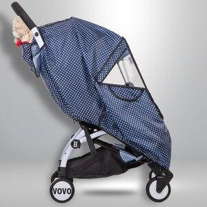 Image 4 - Baby Stroller Raincoat Cover Trolley Umbrella Pram Rain Cover Snow Windshield