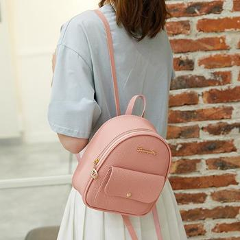 2020 Mini Backpack Women PU Leather Shoulder Bag For Teenage Girls Kids Fashion New Small Bagpack Female Ladies School Backpack mini backpack women pu leather shoulder bag for teenage girls kids multi function small bagpack female ladies school backpack