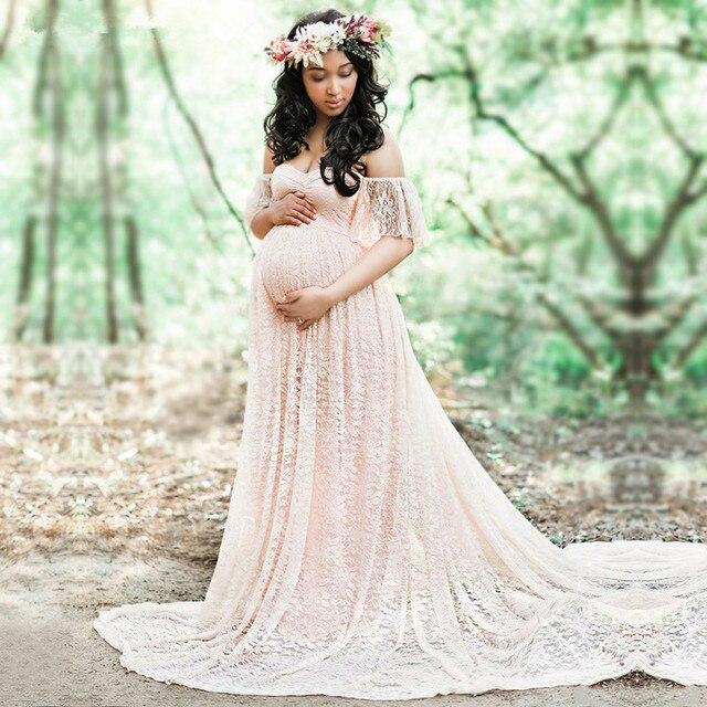 Robe longue de maternité, accessoires de photographie, pour femmes enceintes, robe Maxi pour séance Photo