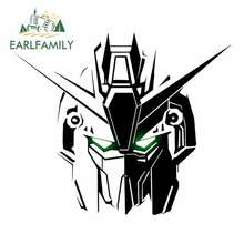 EARLFAMILY 13cm x 9.8cm GUNDAM Car Sticker Helmet Motorcycle Accessories Oem Cartoon Sunscreen Waterproof JDM Polyethylene