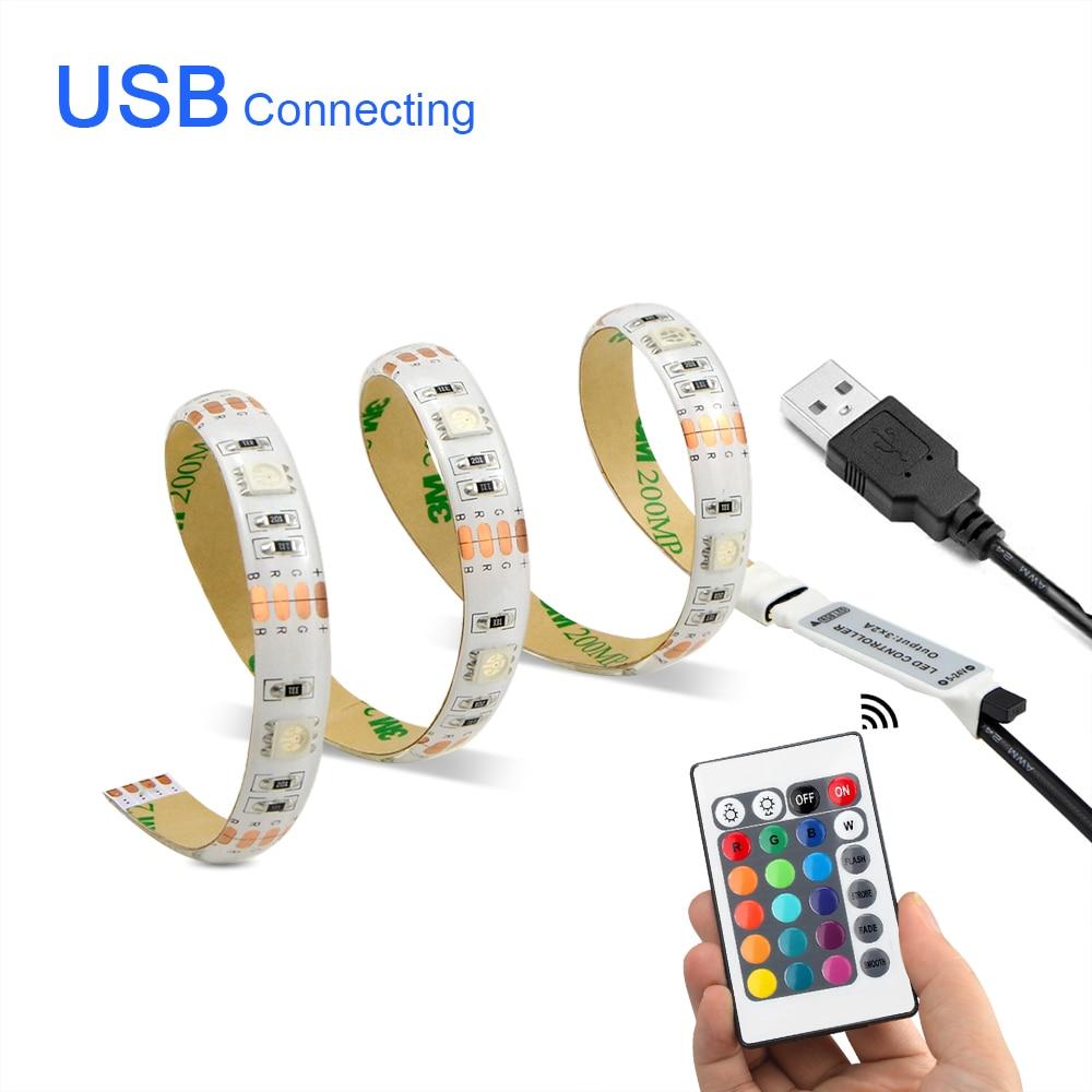 LED Strip Light RGB 5050 Flexible Ribbon fita LED Light Strip 1M-10M Diode Tape LED TV backlight Neon luces(China)
