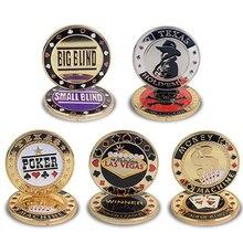 Горячее качество Покер карта защита металлический жетон монета с пластиковой крышкой Техасский покер чип набор покер Лас-Вегаса Кнопка игры