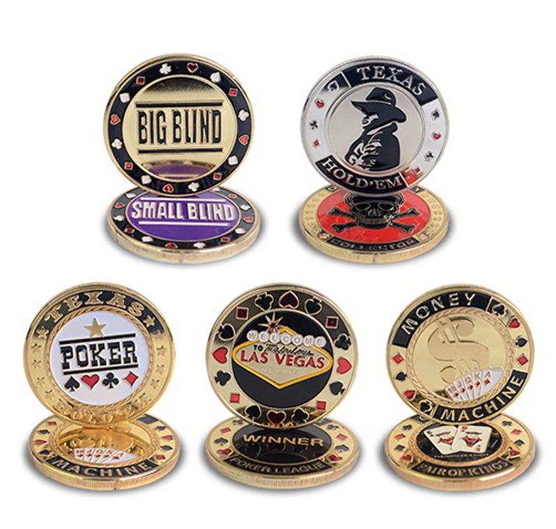Hot Quality Poker Card Guard Protector Metal Token Coin With Plastic Cover Texas Poker Chip Set Poker LAS VEGAS Button Game