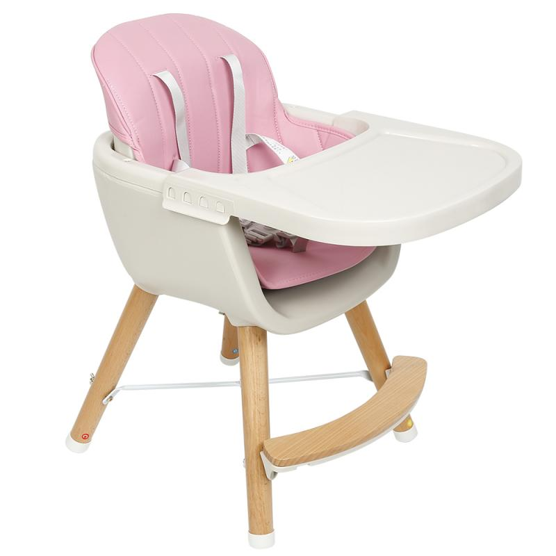 European Style Design Children's Dining Chair Baby Chair Can Be Disassembled Imitation Wood Family Baby Feeding Table High Chair