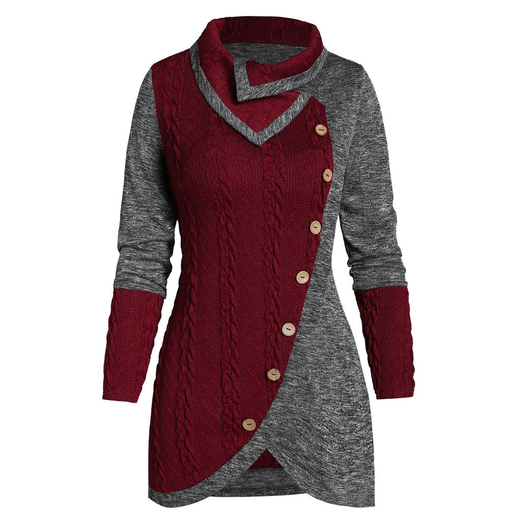 Ladies Long Sleeve Studded Shoulder Knitted Batwing Stretch Womens Top 8-14