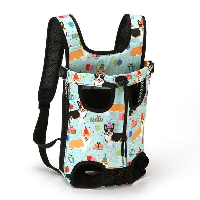 Carrier for Dogs Pet Dog Carrier Backpack Waterproof Breathable Pet Bag Out Folding Canvas Denim Pet Bag  Pet Suppliers