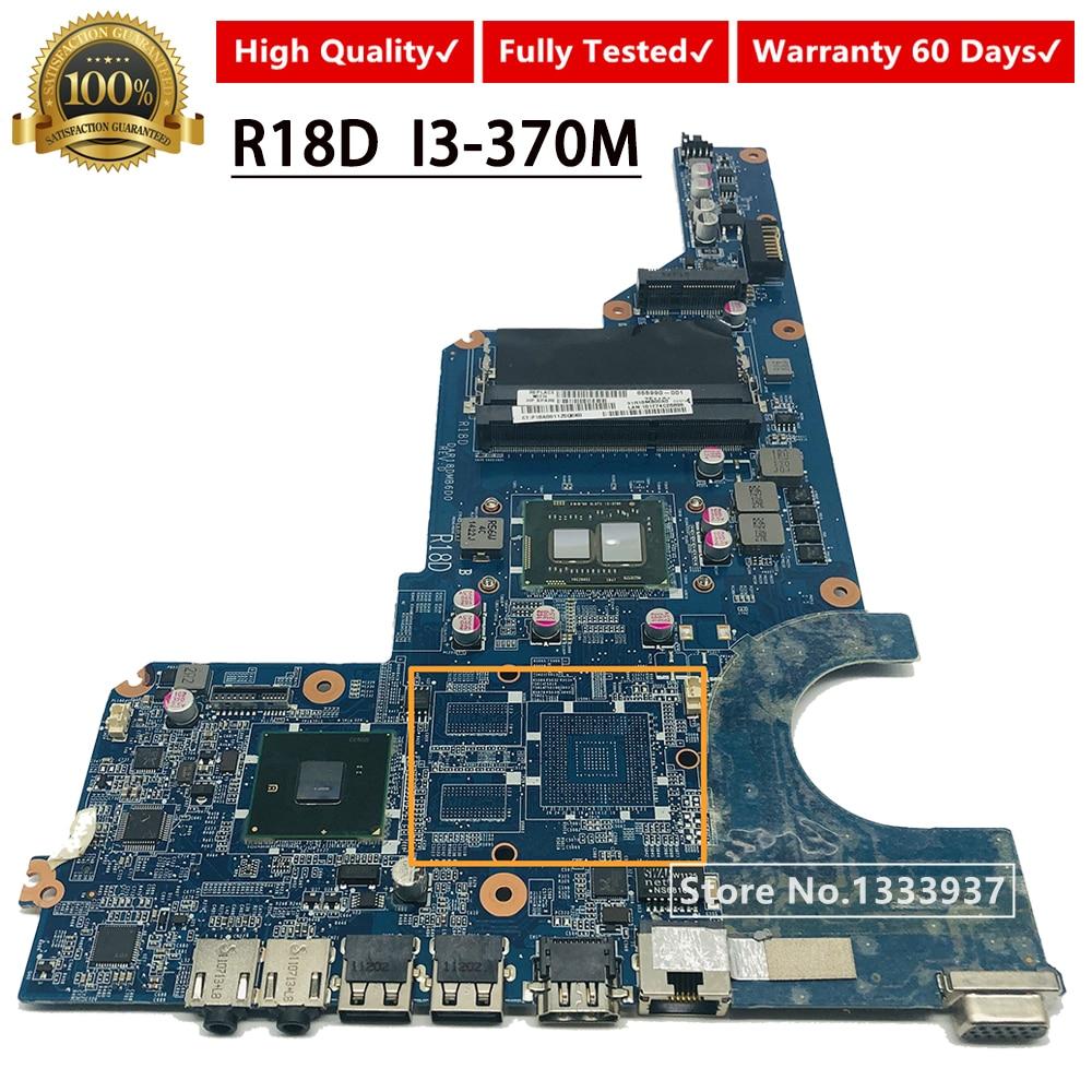For HP PAVILION G4 G6 G7-1000 Intel Laptop Motherboard i3-370M 654118-001 HM55