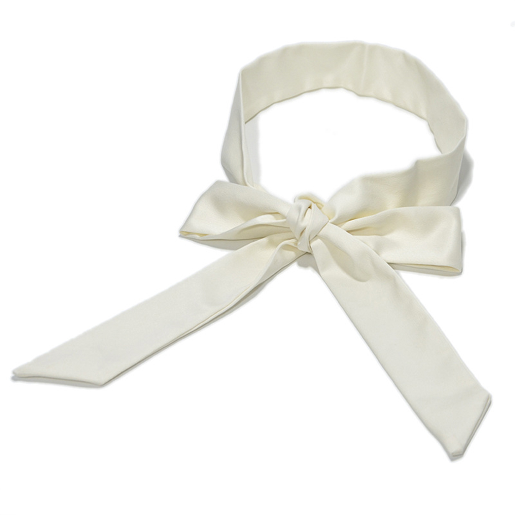 Bowknot Wide Dress Decor Women Waist Belt Silk Waistband Wrap Around Casual Soft Fashion Ladies Ribbon Self Tie Corset